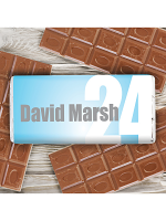 Personalised Blue Number Milk Chocolate Bar