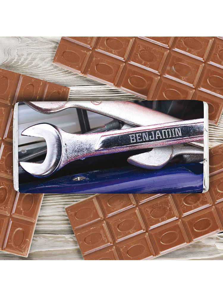 Personalised Tool Kit Milk Chocolate Bar