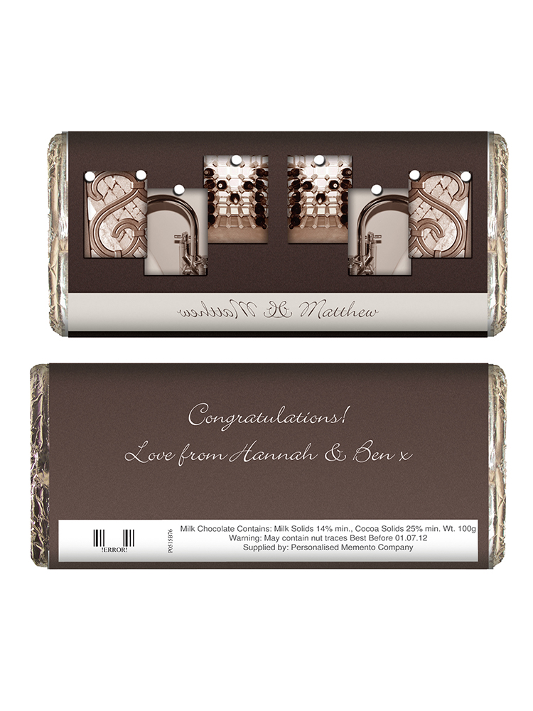 Personalised Affection Art Mr & Mrs Milk Chocolate Bar