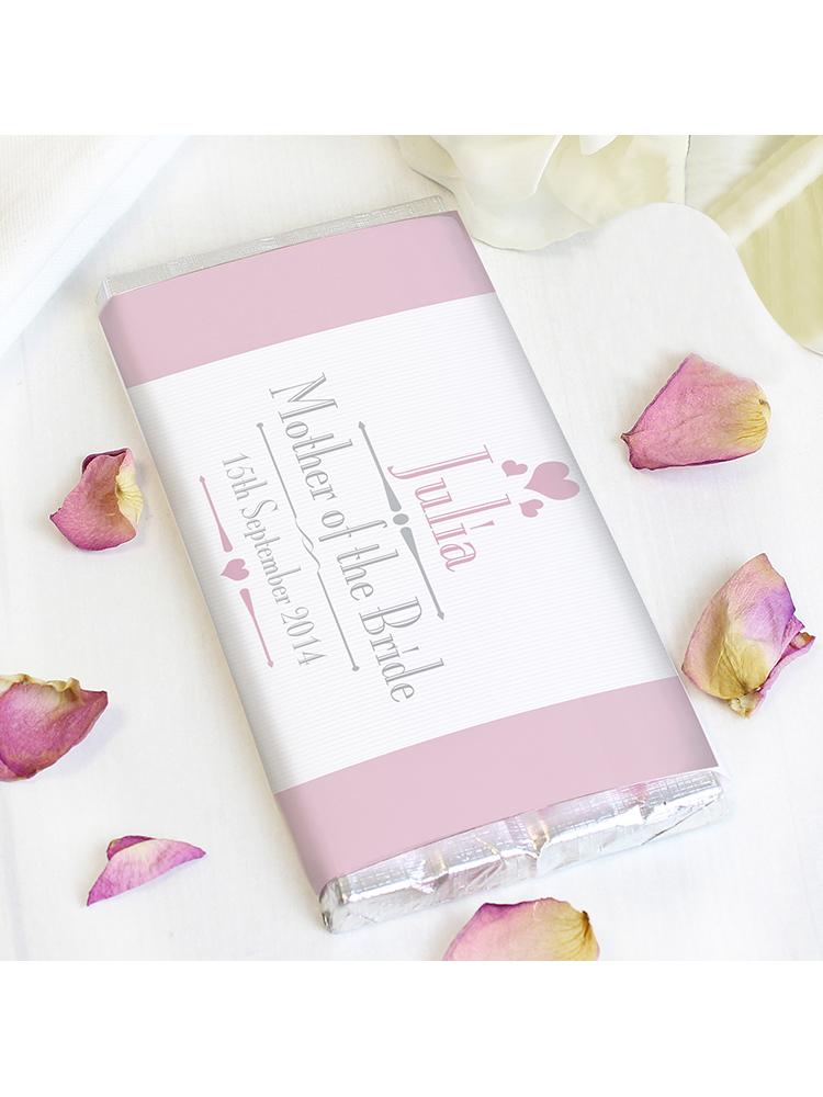 Personalised Decorative Wedding Female Milk Chocolate Bar