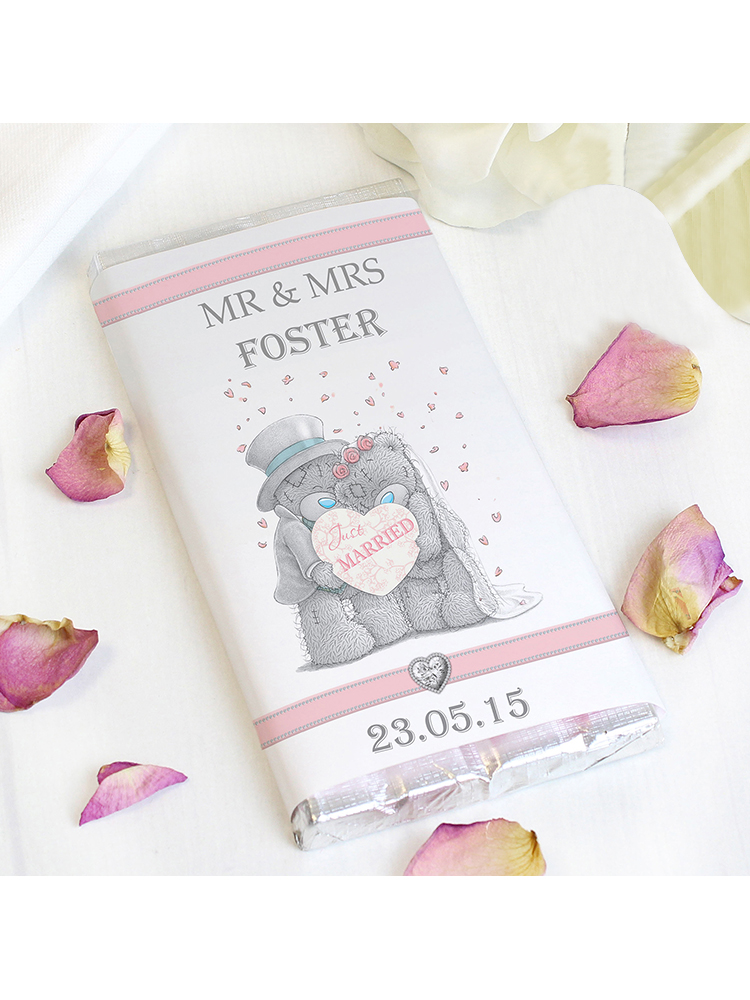 Personalised Me To You Wedding Couple Milk Chocolate Bar