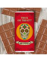 Personalised Sugar Skull Milk Chocolate Bar