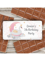 Personalised Swan Lake Milk Chocolate Bar
