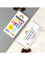 Personalised Rainbow Sunshine Milk Chocolate Bar