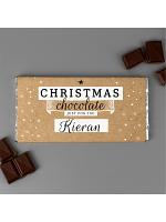 Personalised Christmas Milk Chocolate Bar
