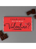 Personalised Be My Valentine Milk Chocolate Bar