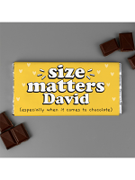 Personalised Size Matters Milk Chocolate Bar
