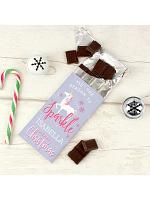 Personalised Unicorn Season to Sparkle Milk Chocolate Bar