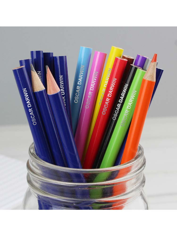 Personalised Pack of 20 HB Pencils & Colouring Pencils