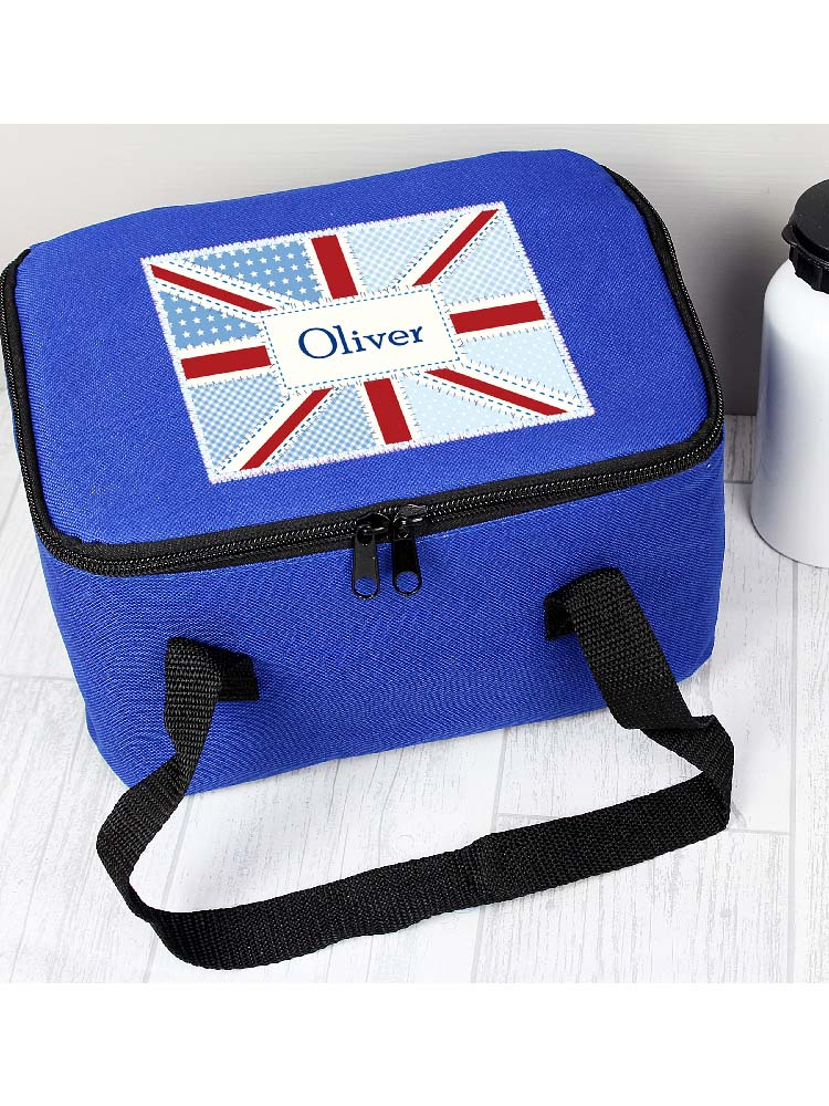 Personalised Patchwork Union Jack Lunch Bag
