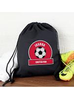 Personalised Red Football Fan Swim & Kit Bag
