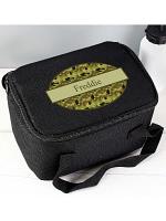 Personalised Khaki Camo Black Lunch Bag