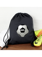 Personalised Football Black Swim & Kit Bag