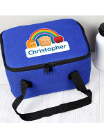Personalised Healthy Eating Blue Lunch Bag