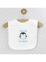Personalised 1st Christmas Penguin Bib