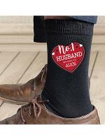 Personalised Hearts No.1 Men's Socks