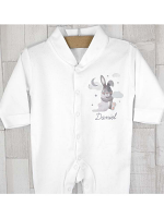 Personalised Baby Bunny Babygrow 0-3 months
