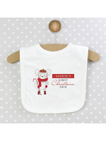Personalised '1st Christmas' Mouse Bib