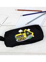 Personalised Digger Black Pencil Case