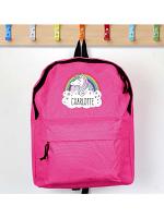 Personalised Unicorn Pink Backpack
