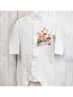 Personalised Festive Fawn 0-3 Months Baby Grow