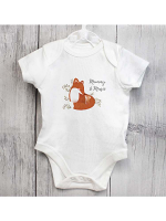 Personalised Mummy and Me Fox 0-3 Months Baby Vest
