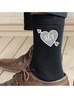 Personalised Initials Heart Mens Socks
