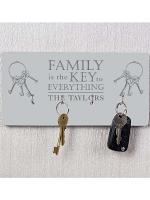 Personalised Family Key Hooks