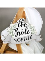 Personalised The Bride Wooden Hanging Decoration