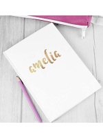 Personalised Gold Name Hardback A5 Notebook