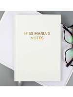 Personalised Gold Message Hardback A5 Notebook