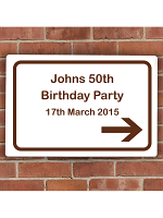 Personalised Brown Road Right Arrow Sign
