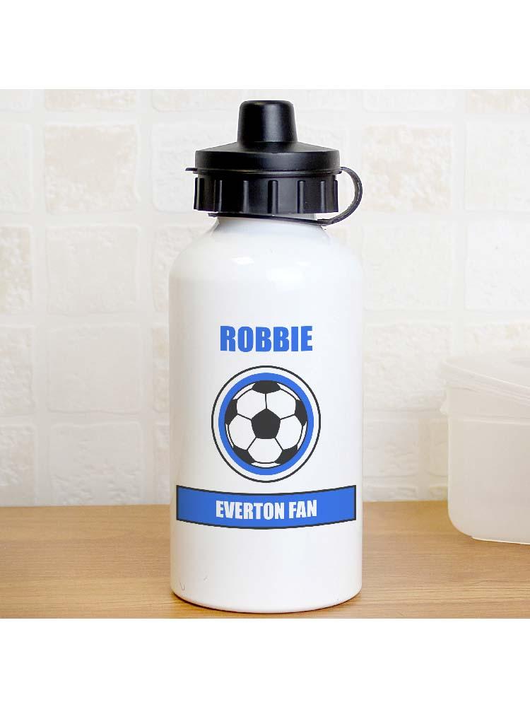 Personalised Dark Blue Football Fan Drinks Bottle