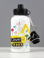 Personalised Digger Drinks Bottle