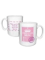 Personalised Pink 1st Class Mug