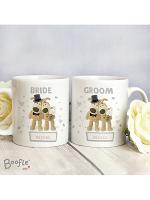 Personalised Boofle Wedding Couple Mug Set