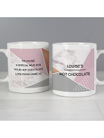 Personalised Geometric Mug