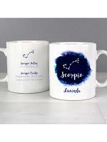 Personalised Scorpio Zodiac Star Sign Mug (October 23rd - November 21st)