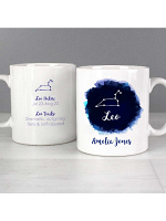 Personalised Leo Zodiac Star Sign Mug (July 23rd - August 22nd)