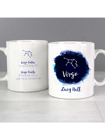 Personalised Virgo Zodiac Star Sign Mug (August 23rd - September 22nd)