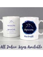 Personalised Aquarius Zodiac Star Sign Mug (January 20th - February 18th)