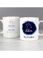 Personalised Libra Zodiac Star Sign Mug (September 23rd - October 22nd)