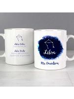 Personalised Libra Zodiac Star Sign Mug (September 23rd - October 22nd)