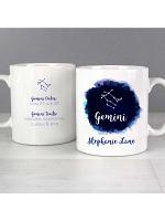Personalised Gemini Zodiac Star Sign Mug (May 21st - June 20th)