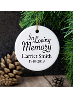 Personalised In Loving Memory Round Ceramic Decoration