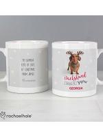 Personalised Rachael Hale Christmas Dachshund Through the Snow Mug