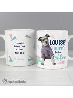 Personalised Rachael Hale 'Ruff Before Coffee' Dog Mug