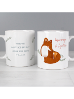 Personalised Mummy and Me Fox Mug
