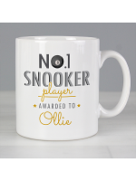 Personalised No.1 Snooker Player Mug