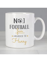 Personalised No.1 Football Fan Mug